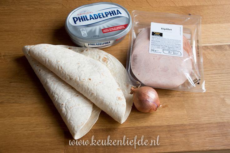 Wraprolletjes met kipfilet en roomkaas - Keukenliefde12