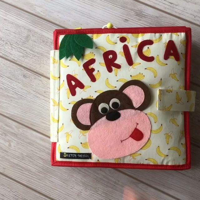 Pikabook Africa, Quiet book, Sensory book, felt book, Activity book