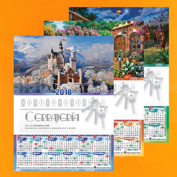 Calendario en cartulina, con barniz UV y cartulina sulfatada.  24 modelos de tamaño 17 x 23 cm .