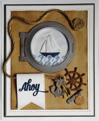 PartiCraft (Participate In Craft): Open Porthole Card