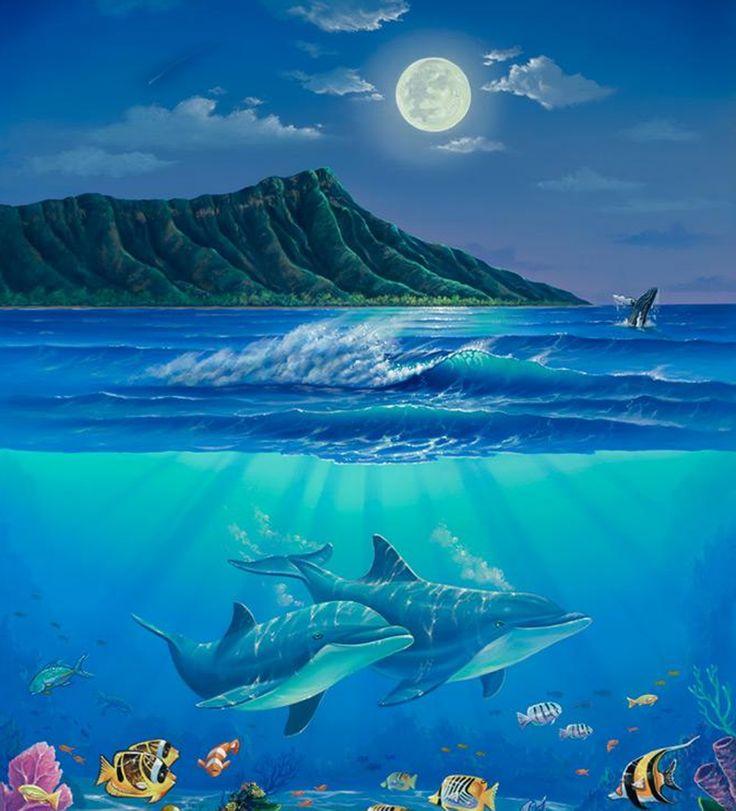 dolphin wall murals murals pinterest