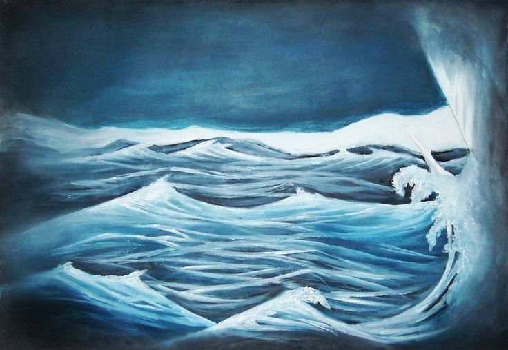 Polo Nord  (bozzetto scenografico, olio su carta 35x50 cm)