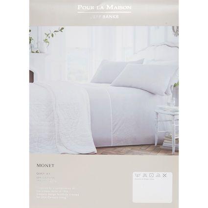 King Grey Monet Duvet Cover Set