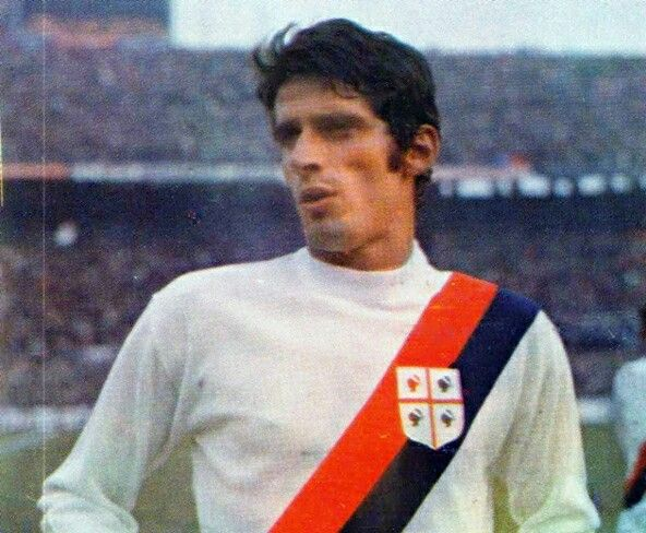 Angelo Domenghini of Cagliari & Italy in 1969.