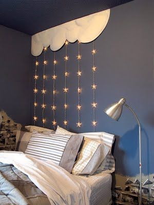 Starry Bedroom Wall Decor -- or backdrop for library display