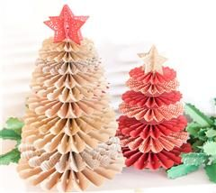 These cute Cricut Christmas trees will add charm to your holiday decorations!