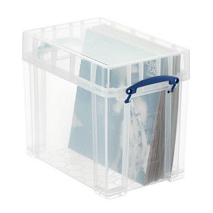 Really Useful Boxes Small Stackable Vinyl Record Storage Box