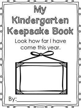 $3 KINDERGARTEN KEEPSAKE BOOK (FIRST WEEK-LAST WEEK ACTIVITIES) - TeachersPayTeachers.com