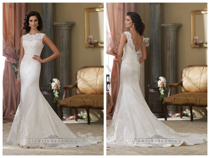 Cap Sleeves A-line Illusion Bateau Neckline Wedding Dresses with Deep   V-back http://www.ckdress.com/cap-sleeves-aline-illusion-bateau-neckline-  wedding-dresses-with-deep-vback-p-446.html  #wedding #dresses #dress #lightindream #lightindreaming #wed #clothing   #gown #weddingdresses #dressesonline #dressonline #bride
