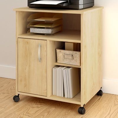Chocolate South Shore Axess Collection Printer Stand