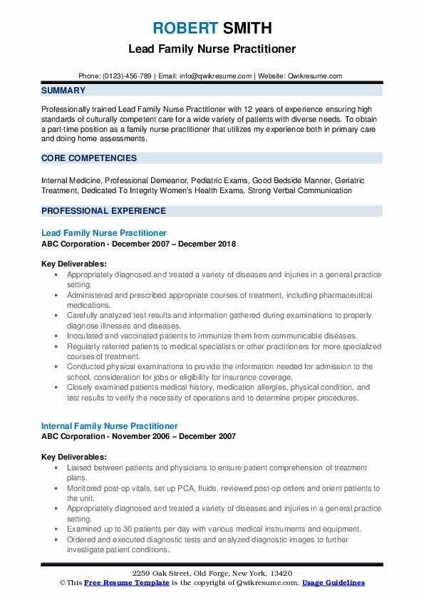 Nurse Practitioner Resume Examples Job Resume Examples Job Resume Samples Resume Examples