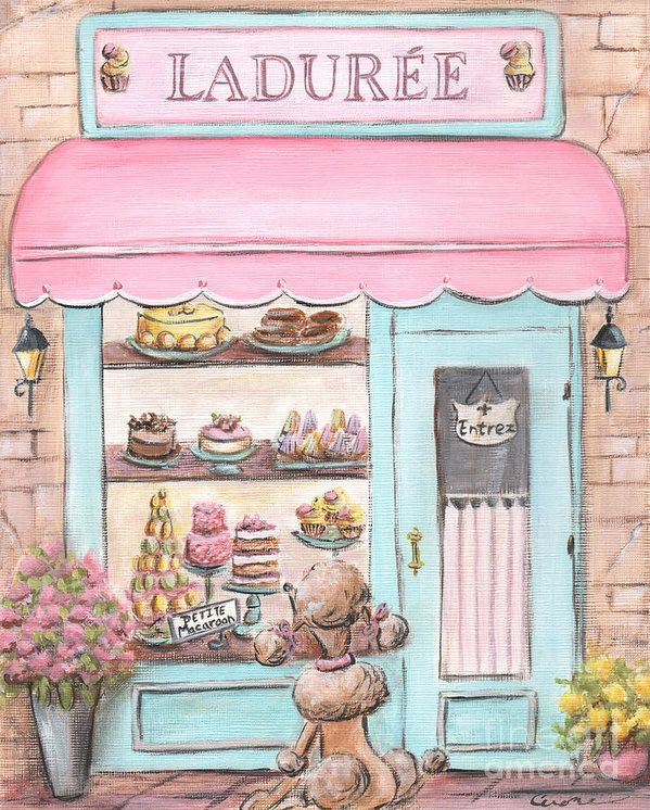 Laduree Patisserie Paris Print by Debbie Cerone.  All prints are professionally…