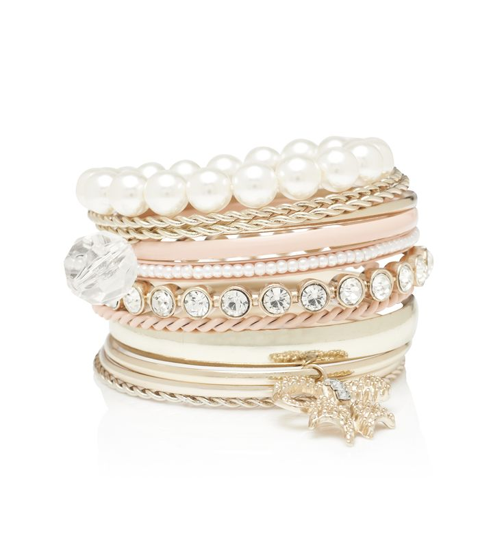 Forever New BLUSH ALASSANDRA MIXED BANGLE SET, Suits best with my top!!!