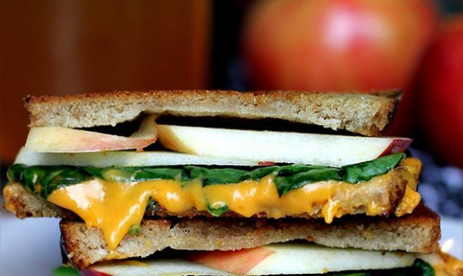 Fall-Inspired Apple & Spinach Grilled Cheeze - Daiya Foods, Deliciously Dairy-Free Cheeses, Meals & More