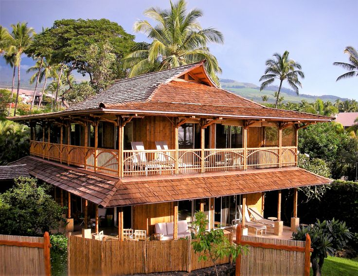 Bali two story bamboo design house styles bamboo - Bamboo house design and floor plan ...