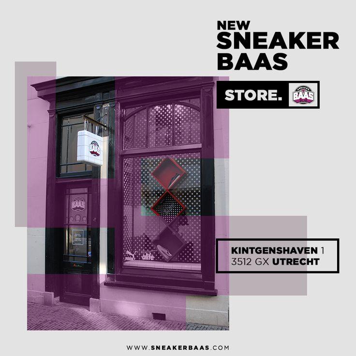 Goed nieuws! Sneakerbaas is niet meer alleen online aanwezig maar heeft nu ook een fysieke winkel in Utrecht waar je de nieuwste exclusieve sneakers kunt kopen en direct kunt meenemen of thuis kan laten bezorgen!  Adres: Kintgenshaven 1 3512 GX Utrecht