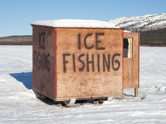 how to set up pop up ice shanty