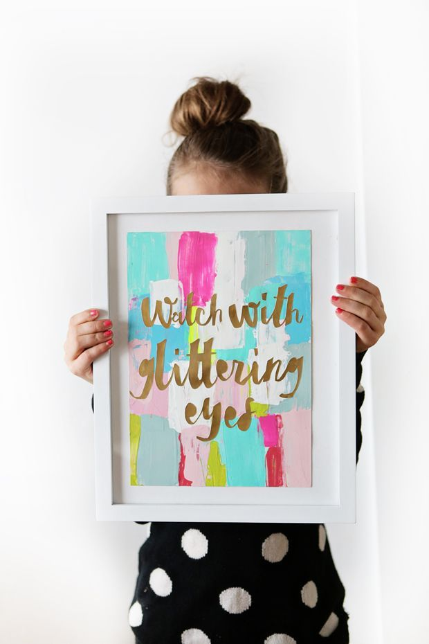 DIY: Abstract Art Quote