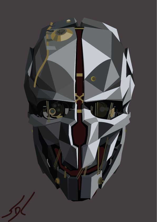 Dishonored Mask by SeppeDC