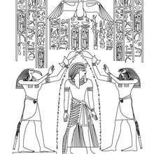 EGYPTIAN PAPYRUS painting coloring page