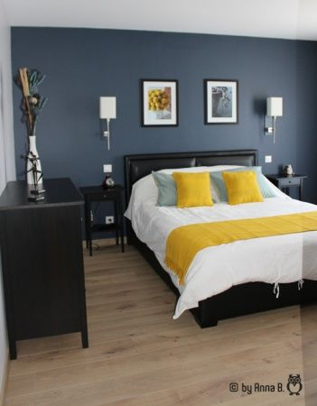 les 25 meilleures id es de la cat gorie gris bleu jaune. Black Bedroom Furniture Sets. Home Design Ideas