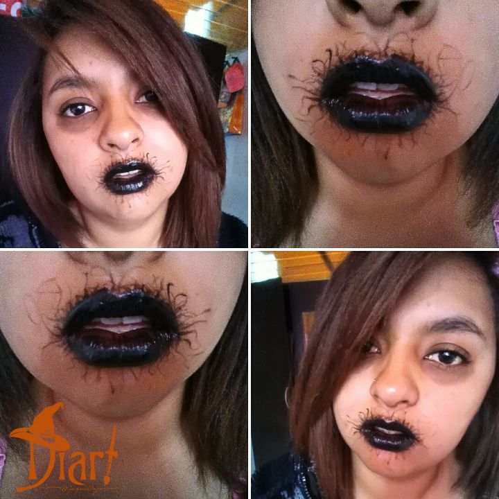 Maquillaje Labios Negros.