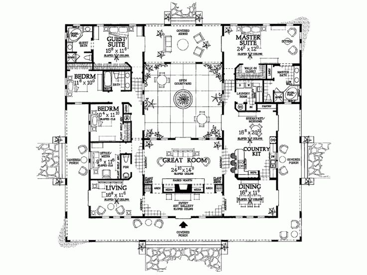 175 best Dream Homes images on Pinterest | Haciendas, Architecture ...
