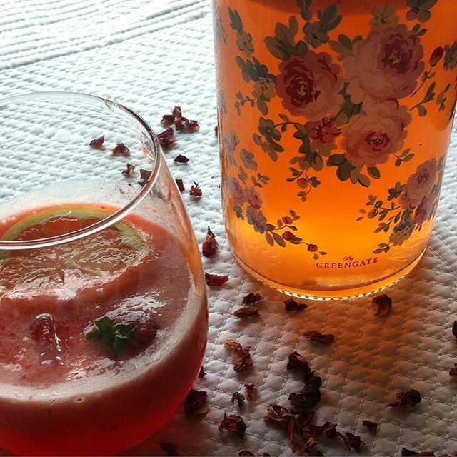 Limonada de Morango e Pêssego