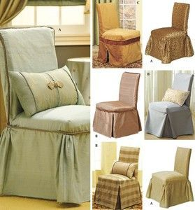 Simplicity 4094 Christopher Lowell DESIGNER DINING CHAIR COVERS
