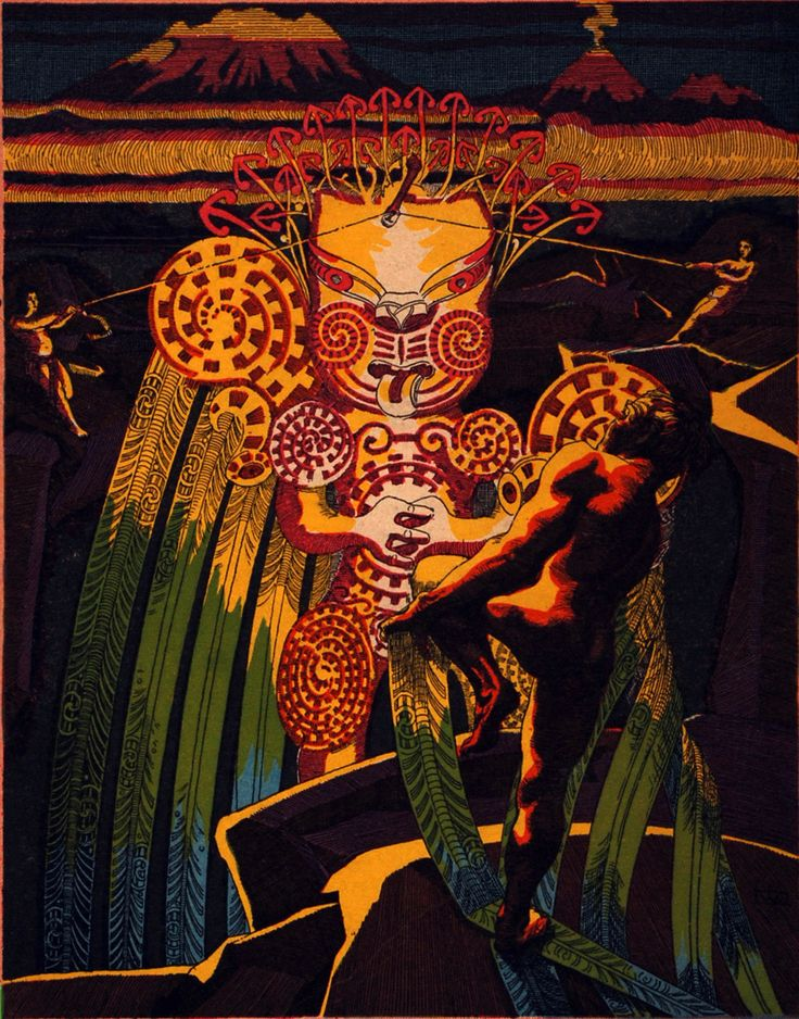 Reed Gallery - Mai I Rangiatea - Case 14Maori Myth and Legend for the Popular Market, House of Reed