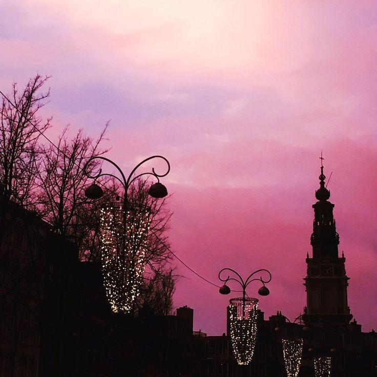 #Zonsondergang #Jodenbreestraat 22-01-2018