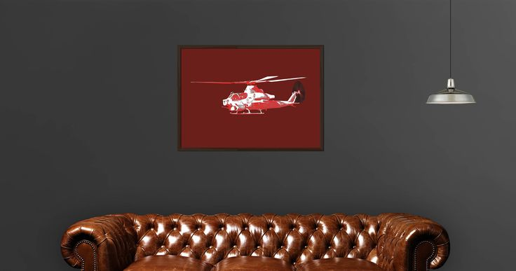 AH1 Helicopter Printable Wall Art by PlatinumRoom on Etsy