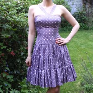 60s Silk Polka Prom Dress