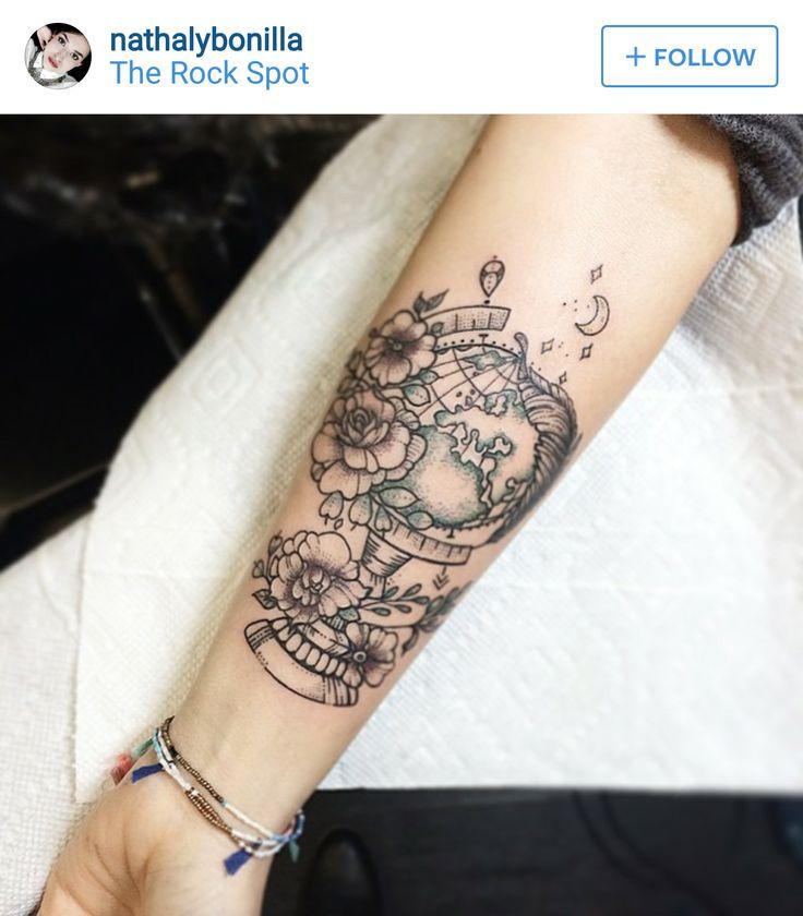 best 25 globe tattoos ideas on pinterest earth tattoo