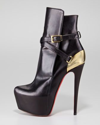 Christian Louboutin--Equestria  Findin' horses!!!: Shoes, Fashion, Sole Booty, Ankle Boots, Louboutin Boots, Christian Louboutin Equestria, High Heels, Equestria Heelplat, Christian Louboutinequestria