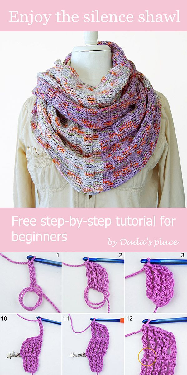 Very Simple And Easy To Make Free Crochet Shawl Pattern For