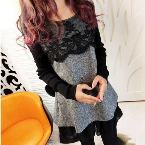 Long Sleeved Lace Maternity Dresses