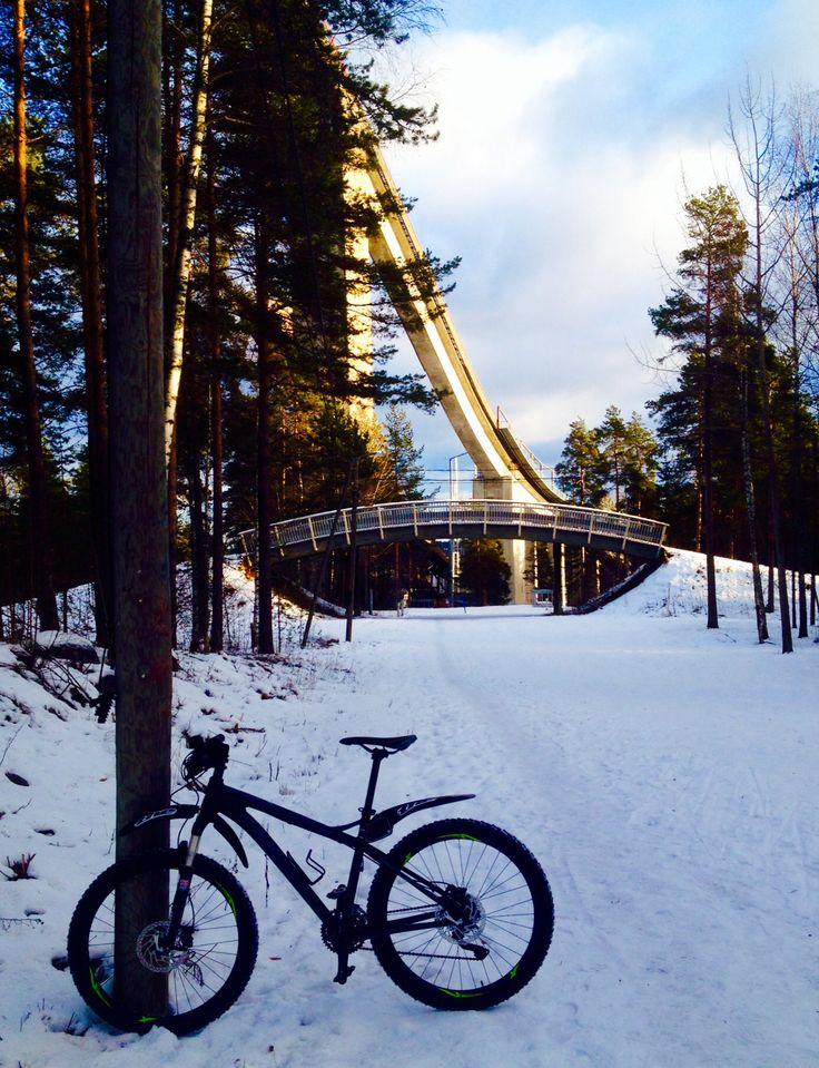 Winter cycling Lahti