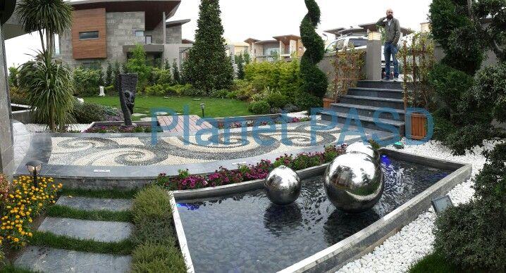 Yılmaz Bey evi giriş havuzu. Pool, blue,  villa , water ,