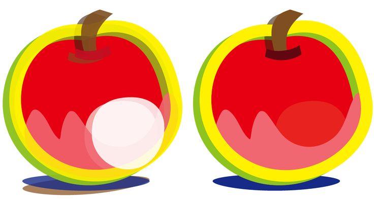 りんごとバナナ 二つのリンゴ イラスト