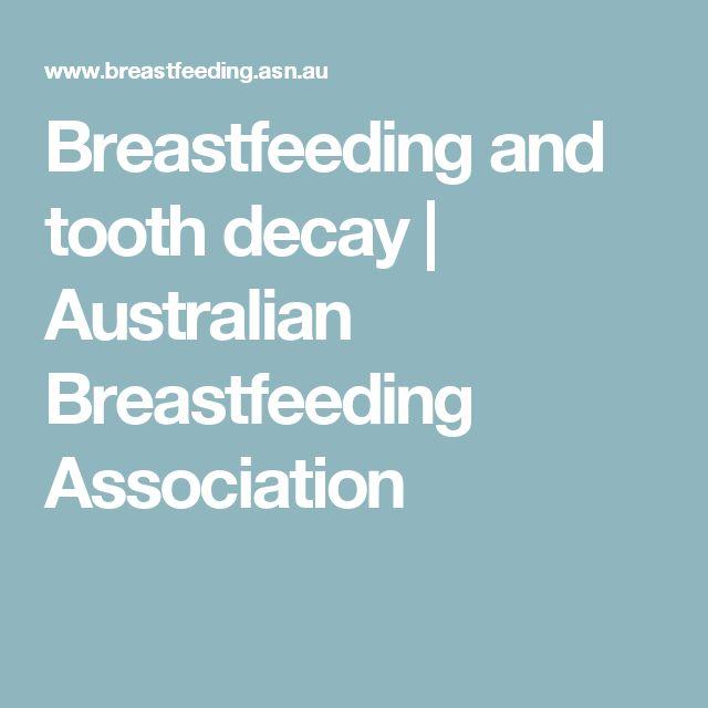 Breastfeeding and tooth decay | Australian Breastfeeding Association