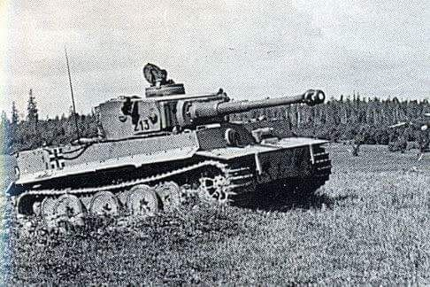 The Tiger 1 belonging to tank ace Otto Carius operating with the schwere Abteilung 502