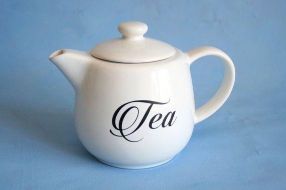 White Teapot Teapot Kitchen Teapot Teapot Decor