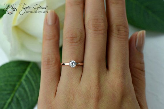 0.5 ct Rose Gold Engagement Ring. (In. Love.)
