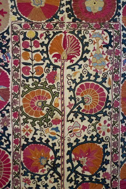 Bukhara Suzani with Pomegranate Design | Flickr - Photo Sharing!