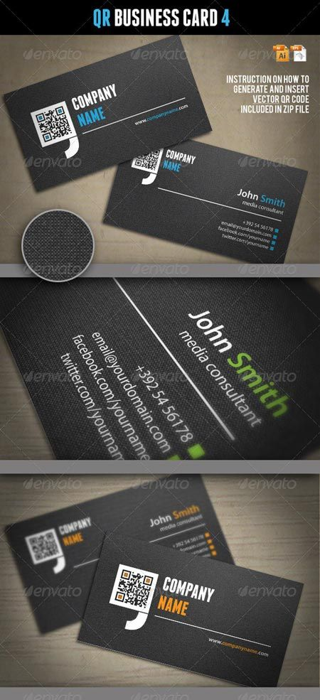 GraphicRiver QR Business Card 4 1981801