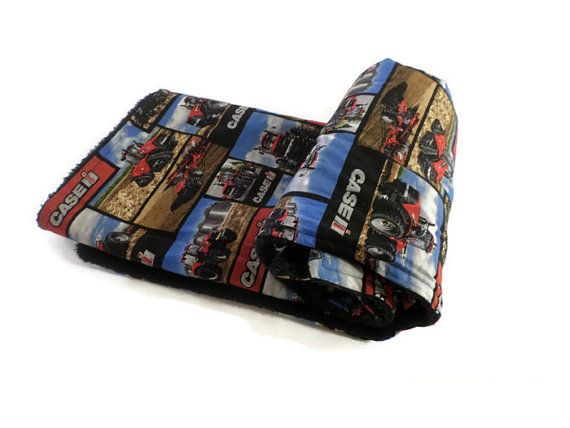 Case IH black and red baby blanket Case IH by SewLittleCreations