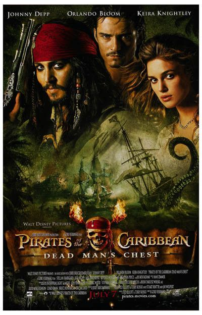 Pirates of the Caribbean Dead Man's Chest Movie Poster 11x17