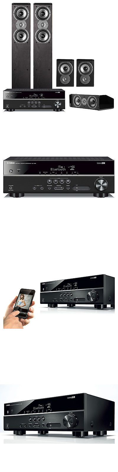 Home Theater Systems: Yamaha Rxv381 5.1-Channel Receiver W/ Polk 5.0 Home Theater Speaker Bundle BUY IT NOW ONLY: $789.0