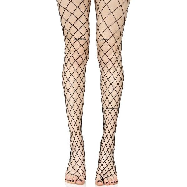 Diamond Doll Fishnet Stockings ($10) ❤ liked on Polyvore featuring intimates, hosiery, tights, fishnet hosiery, leg avenue pantyhose, babydoll stockings, diamond tights and fishnet tights